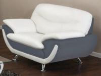 Sessel Indiz - Grau & Weiß