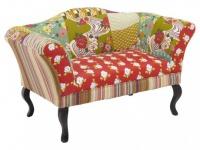 2-Sitzer-Sofa Patchwork Stoff Spania
