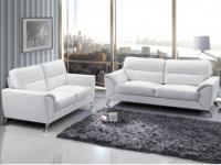Couchgarnitur Leder 3+2 Maneo - Weiß