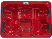 LED-Whirlpool Spa Themise II - 4 Plätze - Rot