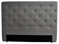 Kopfteil Bett gepolstert Enza - Breite: 162 cm - Grau