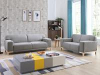 Couchgarnitur Stoff Obrian 3+2 - Grau