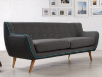 3-Sitzer-Sofa Stoff Serti - Anthrazit & Grau