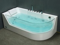 Whirlpool Eckwanne Aria mit Hydromassage - 1 Person - 263 L