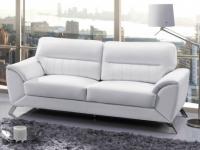 Ledersofa 3-Sitzer Maneo - Weiß