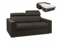 Schlafsofa 2-Sitzer Stoff mit Matratze Vizir - Täglicher Schlafgebrauch - Braun - Liegefläche: 120cm