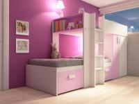 Kinderbett Hochbett Etagenbett Julien - 2x90x190cm - Limited Edition - Rosa