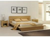 Set: Bett Holz 160x200 + 2 Nachttische Symphonie