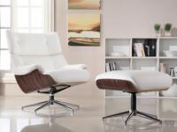 Relaxsessel Fernsehsessel Leder Soprano + Leder Fußhocker