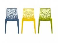 Stuhl 2er-Set Diadem - Kunststoff - Blau