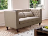 2-Sitzer-Sofa Stoff Iringa - Beige