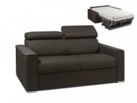 Schlafsofa 2-Sitzer Stoff mit Matratze Vizir II - Braun - Liegefläche: 120 cm - Matratzenhöhe: 18 cm
