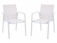 Gartenstuhl 2er-Set Aluminium PALAOS - Weiß
