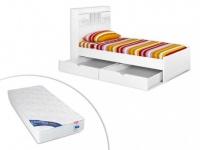Kinderbett mit Bettkasten Mederick - mit Matratze - 90x190cm
