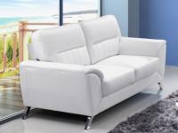 Ledersofa 2-Sitzer Maneo - Weiß