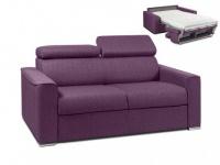 Schlafsofa 2-Sitzer Stoff mit Matratze Vizir - Täglicher Schlafgebrauch - Violett - Liegefläche: 120cm