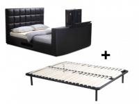 Polsterbett mit TV-Lift PROFUSION + Lattenrost - 160x200 cm - Schwarz