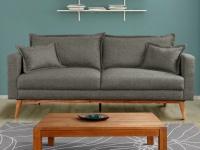3-Sitzer Sofa Stoff Acadia - Grau