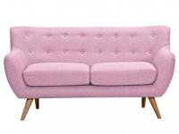2-Sitzer-Sofa Stoff Serti - Rosa