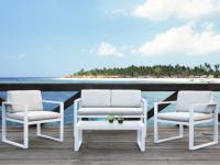 Gartenmöbel Sitzgruppe Aluminium PALAOS (4-tlg.)