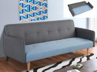 Schlafsofa Klappsofa 3-Sitzer Leinen Maurice - Limited Edition - Grau-Blau