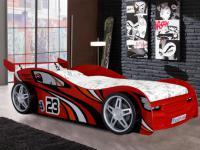 Kinderbett Faster - 90x200 cm - Rot