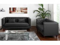 Couchgarnitur Stoff 3+2 Iringa - Grau