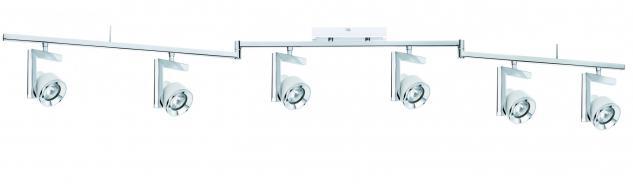 602.40 Paulmann Deckenleuchten Spotlight Turn Balken 6x40W GU10 Weiß Chrom 230V Metall