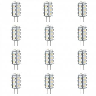 12x LED Leuchtmittel NV-Stiftsockel rundum 1W G4 Warmweiß 2700K