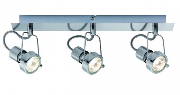 665.17 Paulmann Deckenleuchten Spotlight Balken Techno II 3x40W GU10 Eisen gebürstet 230V Metall