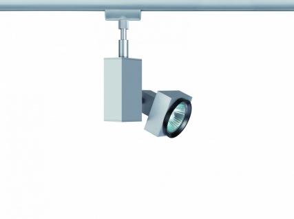 968.44 Paulmann U-Rail Einzelteile URail System Light&Easy Spot Gurnemanz 1x50W GU5, 3 Chrom matt 230V/12V Metall