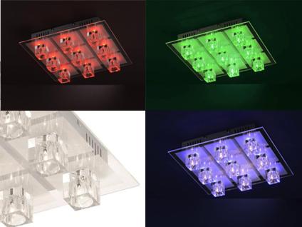 50385-17 Paul Neuhaus 9-flammige Deckenleuchte Oki Kristall Farbwechsel RGB LED inkl. Fernbedienung