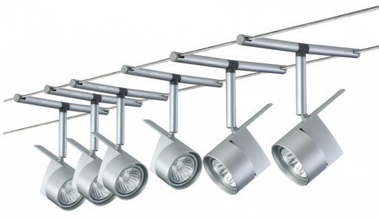 974.88 Paulmann Seil Komplett Set Wire System EasyPower 300 6x50W GU5, 3 Chrom matt 230/12V 300VA Metall