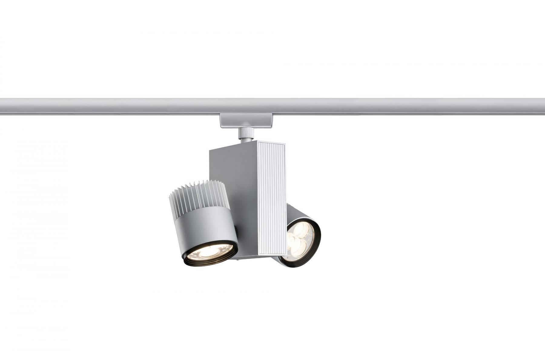 paulmann u rail einzelteile urail system light easy spot tecled 2x9w chrom matt 230v. Black Bedroom Furniture Sets. Home Design Ideas