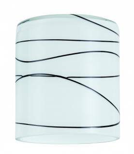 600.53 Paulmann Lampenschirme DecoSystems Schirm Zyli max.50W Glas Weiß/Schwarz