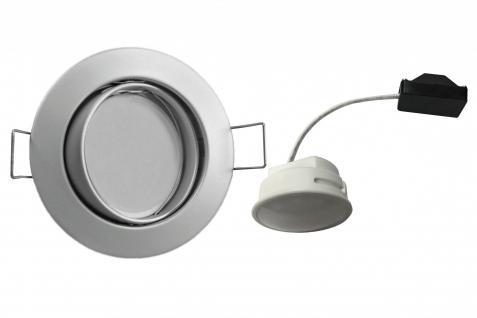 LED Einbauleuchte Chrom matt 5, 5W 3000K 230V Modul flache Einbautiefe 35mm