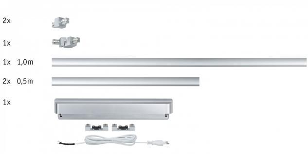 950.67 Paulmann U-Line ULine System Light&Easy Basissystem 60 Chrom matt 230/12V 60VA Metall