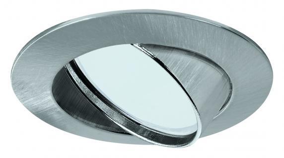 920.01 Paulmann Einbauleuchten Premium EBL Set ESL schwenkbar 3x11W 230V GU10 51mm Eisen gebürstet/Alu