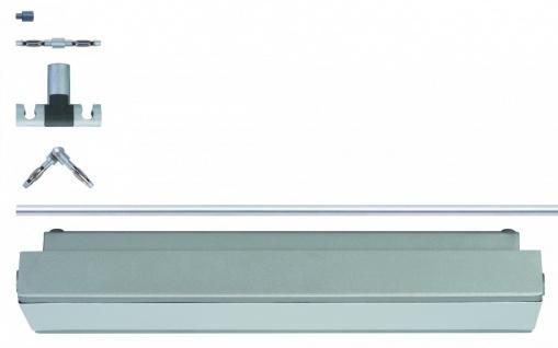 976.43 Paulmann 12V Rail Set Rail System Light&Easy GEO Basissystem 2, 8m Chrom matt 230V 60VA Metall