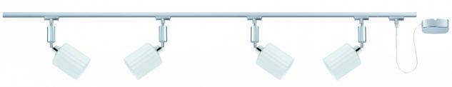 950.96.04 Paulmann U-Rail Einzelteile URail System Spot Zyli 4x3W Chrom/Weiß 230V/12V Metall/Glas