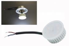 5W LED Modul Warmweiß 230V 3000 Kelvin 400 Lumen für Einbauleuchten Flache Einbautiefe ( ~40W)