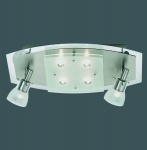 6777-55 Paul Neuhaus Deckenlampe QUADRO Stahl 2 x 40W & 4 x 18W
