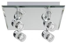 701.50 Paulmann Deckenleuchten WallCeiling Palinero IP23 max.4x20W GU4 Chrom 230V/12V Metall/Glas