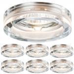 6er Set LED Einbauleuchten Kristall 6x 5W GU10 LEDs Warmweiß 3000K 350Lumen 110 Grad