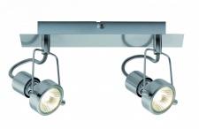 665.16 Paulmann Deckenleuchten Spotlight Balken Techno II 2x40W GU10 Eisen gebürstet 230V Metall
