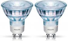 2er Set Philips LED-Reflektor GU10 5, 3W ~ 50 Watt 345 Lumen, warmweiß 36 Grad