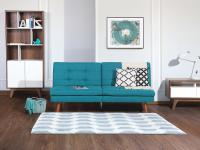 Sofa Blau - Couch - Schlafsofa - Schlafcouch - Bettsofa - Polstersofa - RONNE