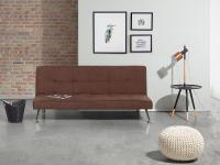 Sofa Braun - Couch - Schlafsofa - Schlafcouch - Bettsofa - Polstersofa - HASLE