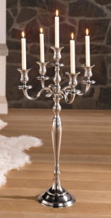 gro er kerzenst nder 5 armig silber 78 cm kerzenhalter kerzenleuchter kandelaber kaufen bei. Black Bedroom Furniture Sets. Home Design Ideas
