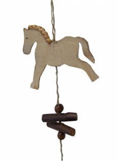 Holz girlande hotteh pferde holz natur h ngedeko wanddeko for Wanddeko herbst